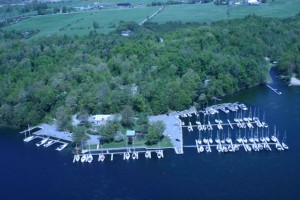 Aerial view of Trident Yacht Club