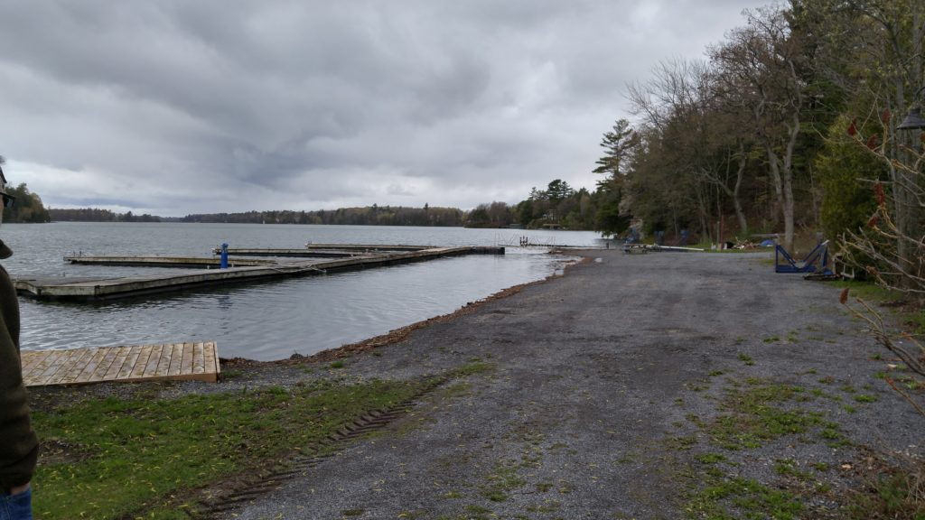 West dock rising with the water