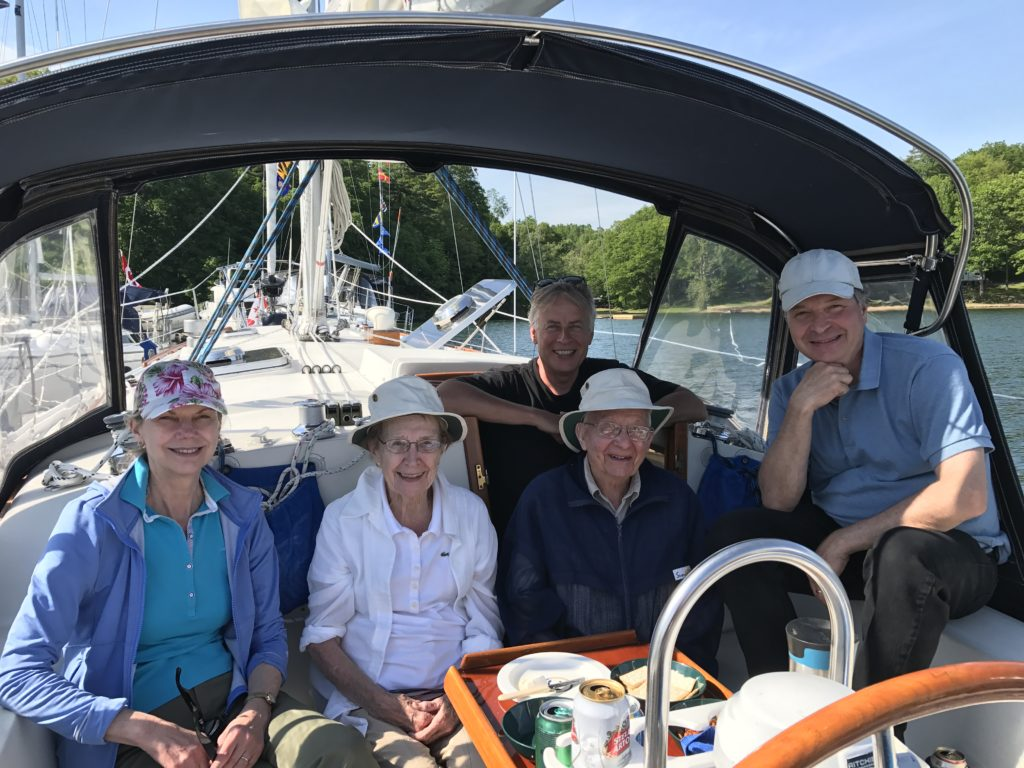 The Williamson clan is ready to go sailing